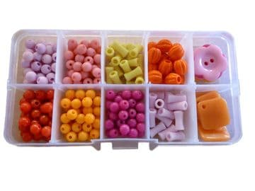 CRAFT + HOBBY BEAD SETS (F) for JEWELLERY making NECKLACES + BRACELETS DIY KITS